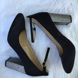 New Marc Fisher Glitter Heel Pumps